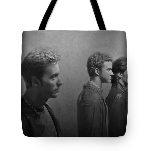 Back Stage With Nsync Bw Tote Bag by David Dehner