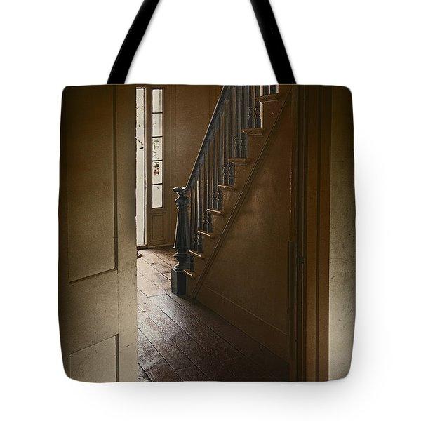 Back Stairway Tote Bag by Margie Hurwich