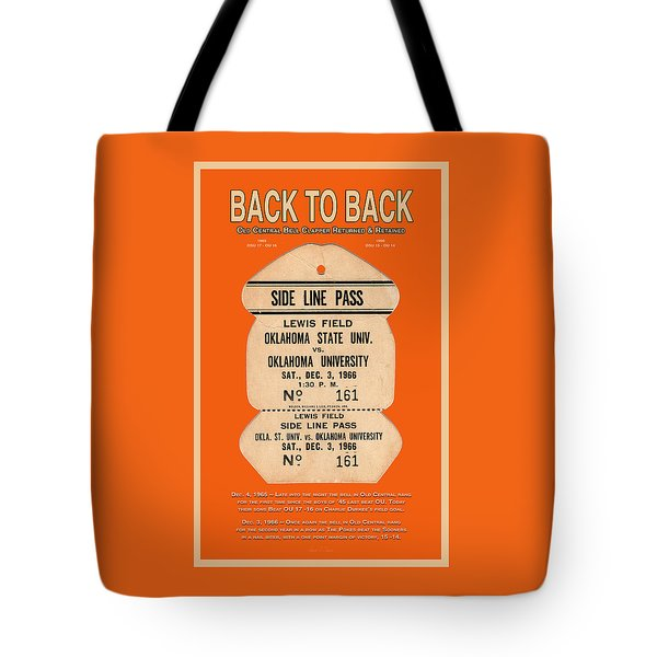 Back To Back Rivalry Wins Tote Bag by Robert J Sadler