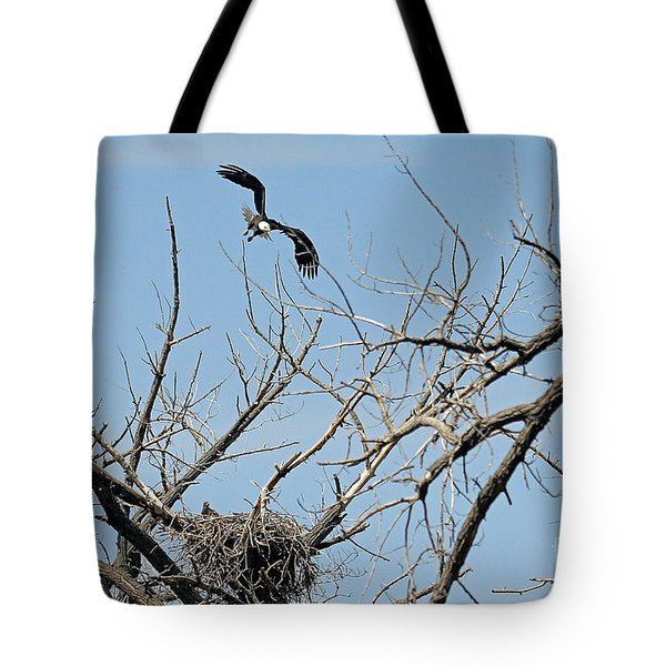 Back To The Nest Tote Bag by Bob Hislop