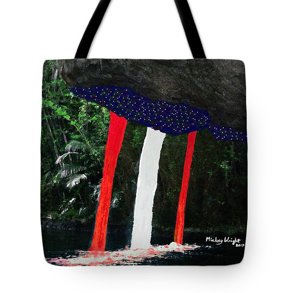 Backside of Freedom II Tote Bag by Mickey Wright