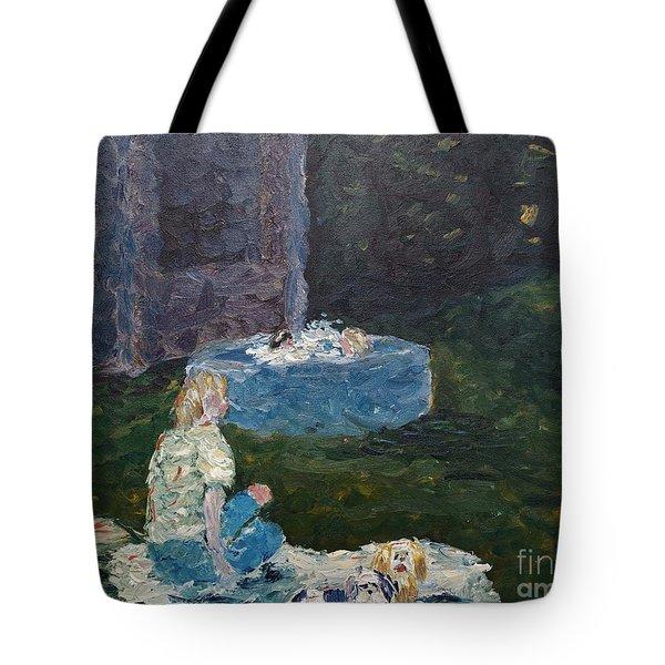 Backyard Fun Tote Bag by Wayne Cantrell