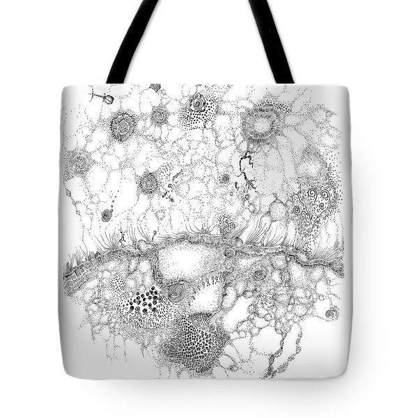 Bacteriophage Ballet Tote Bag by Regina Valluzzi