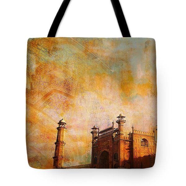 Badshahi Mosque Tote Bag by Catf