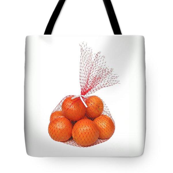 Bag Of Oranges Tote Bag by Ann Horn