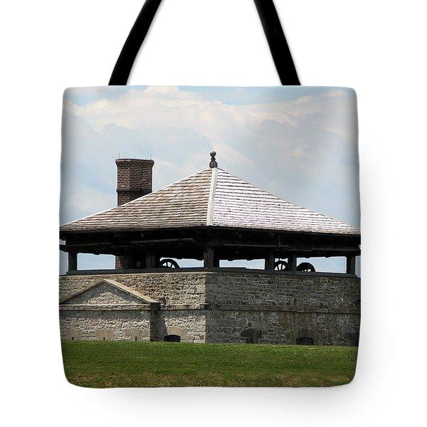 Bake House At Old Fort Niagara Tote Bag by Rose Santuci-Sofranko