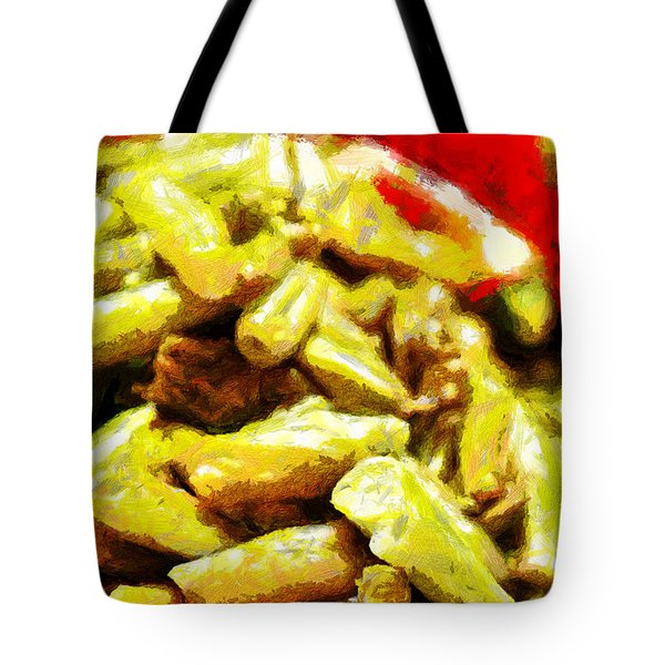 Baked Beans With Chilli Painting Tote Bag by Magomed Magomedagaev