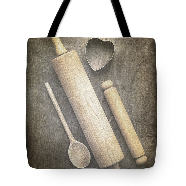 Baking With Mom Tote Bag by Jan Bickerton
