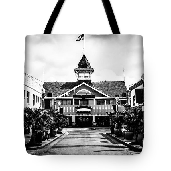 Balboa California Main Street Black and White Picture Tote Bag by Paul Velgos