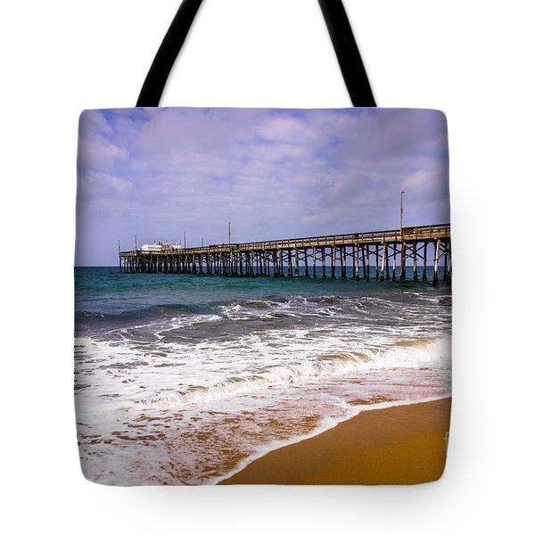 Balboa Pier in Newport Beach California Tote Bag by Paul Velgos