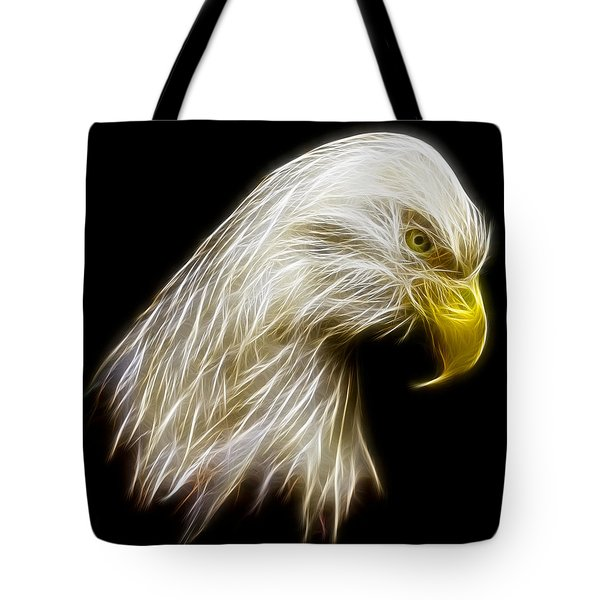 Bald Eagle Fractal Tote Bag by Adam Romanowicz