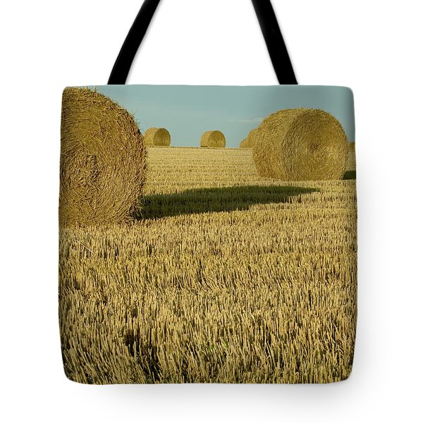 Bales Of Grain At Harvest Time Tote Bag by Cyril Ruoso