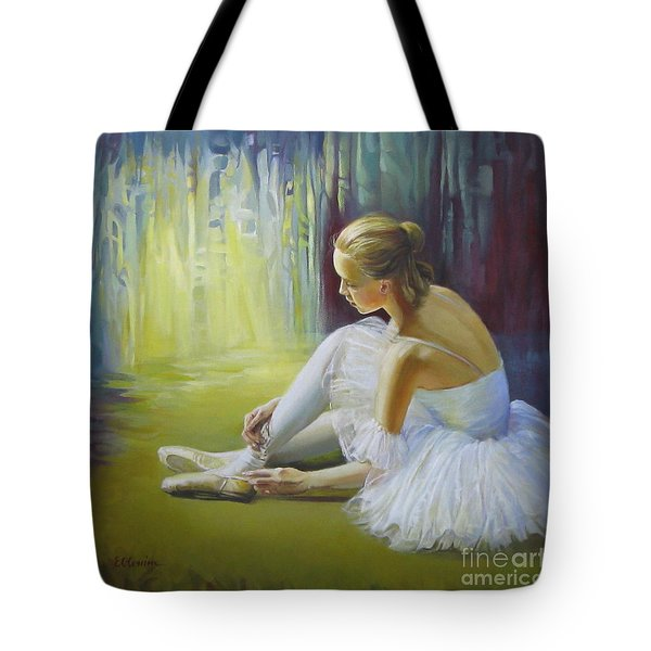 Ballerina Tote Bag by Elena Oleniuc