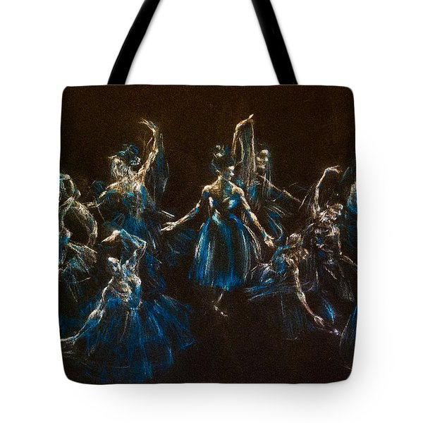 Ballerina Ghosts Tote Bag by Jani Freimann