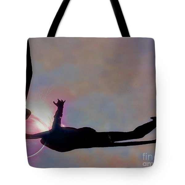 Ballerina On Point Tote Bag by Tom Gari Gallery-Three-Photography