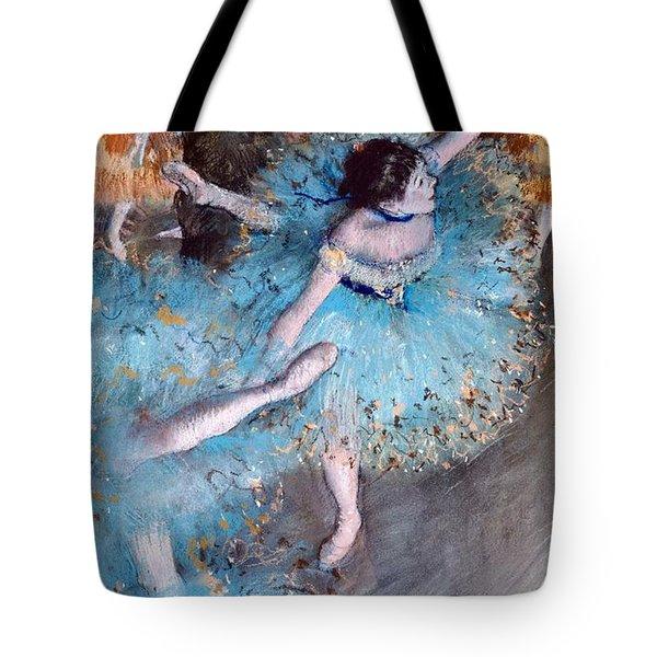 Ballerina On Pointe  Tote Bag by Edgar Degas