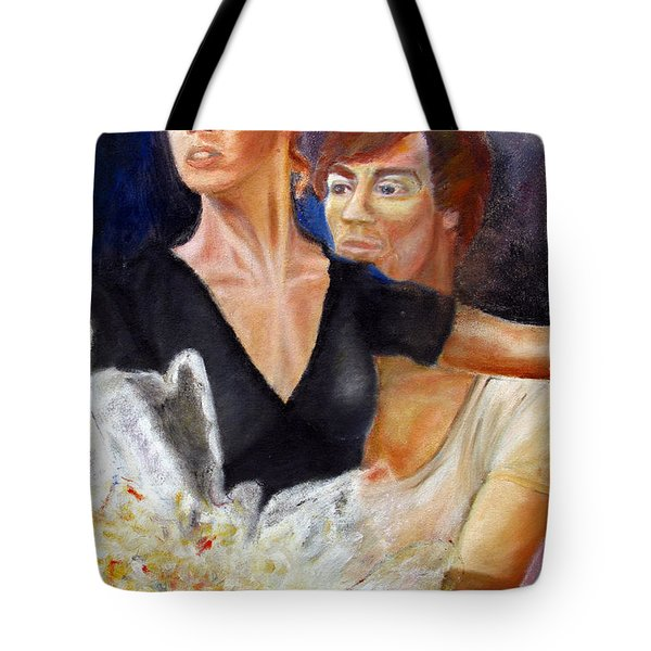 ballet dancers rehearse for La Bayadere Tote Bag by Tom Conway