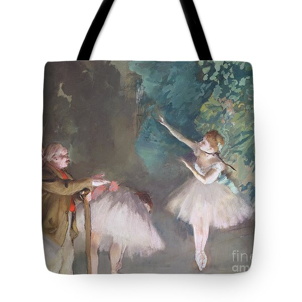 Ballet Rehearsal Tote Bag by Edgar Degas