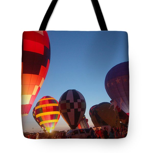 Balloon-glow-7783 Tote Bag by Gary Gingrich Galleries