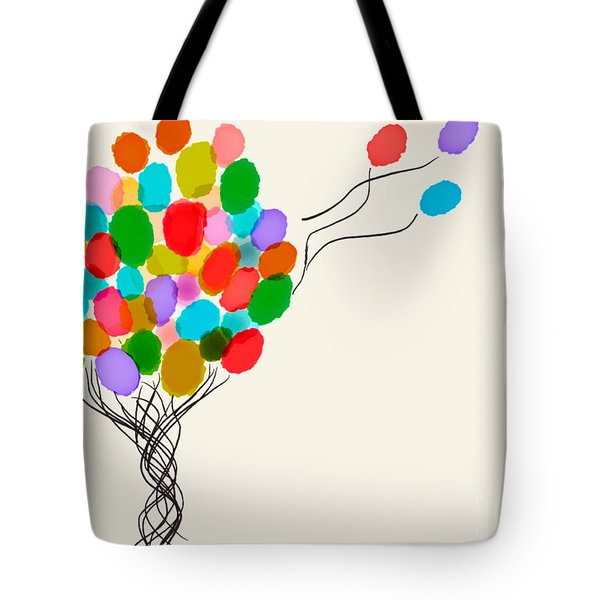 Balloons For Sale Tote Bag by Anita Lewis