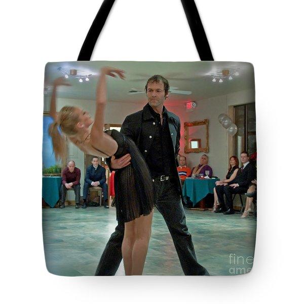 Ballroom Dancers Tote Bag by Valerie Garner