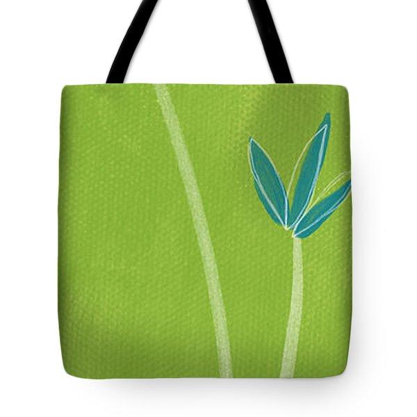 Bamboo Namaste Tote Bag by Linda Woods