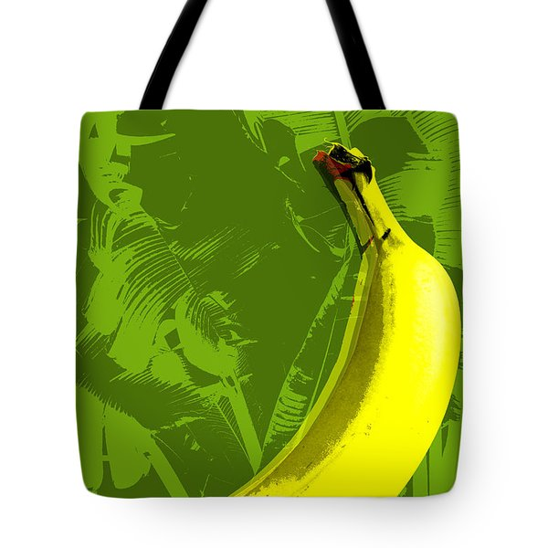 Banana Pop Art Tote Bag by Jean luc Comperat