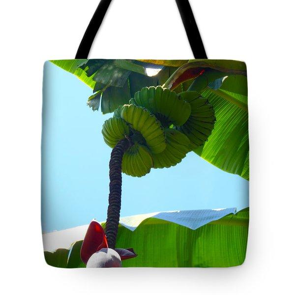 Banana Stalk Tote Bag by Carey Chen