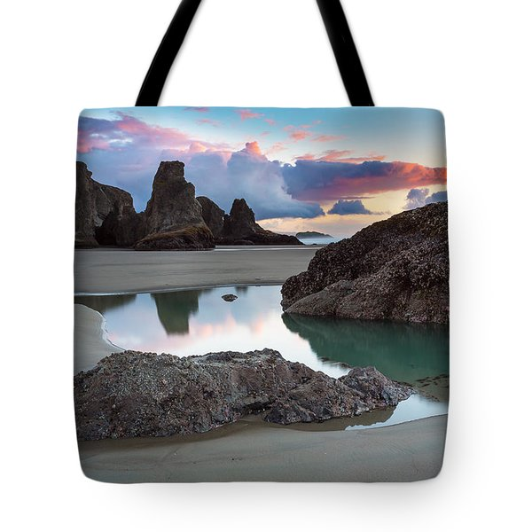 Bandon By The Sea Tote Bag by Robert Bynum