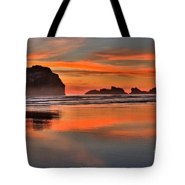 Bandon Orange Pastels Tote Bag by Adam Jewell