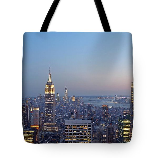 Bank of America and Empire State Building Tote Bag by Juergen Roth
