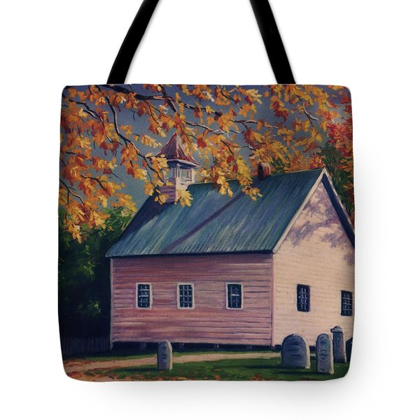 Baptist Church  Cades Cove Tote Bag by John Clark
