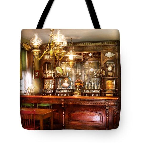Bar - Bar and Tavern Tote Bag by Mike Savad