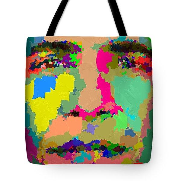 Barack Obama - Abstract 01 Tote Bag by Samuel Majcen