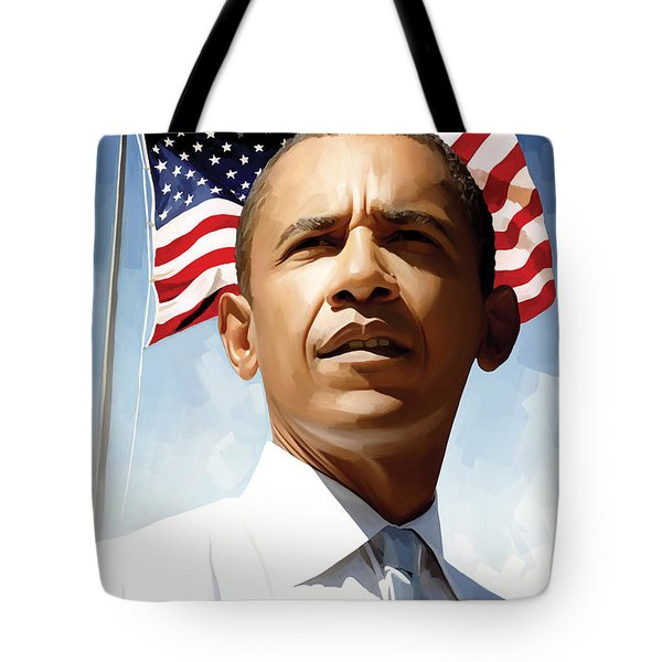President Barack Obama Tote Bags for Sale