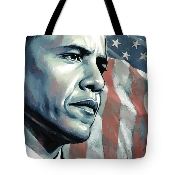 Barack Obama Artwork 2 B Tote Bag by Sheraz A