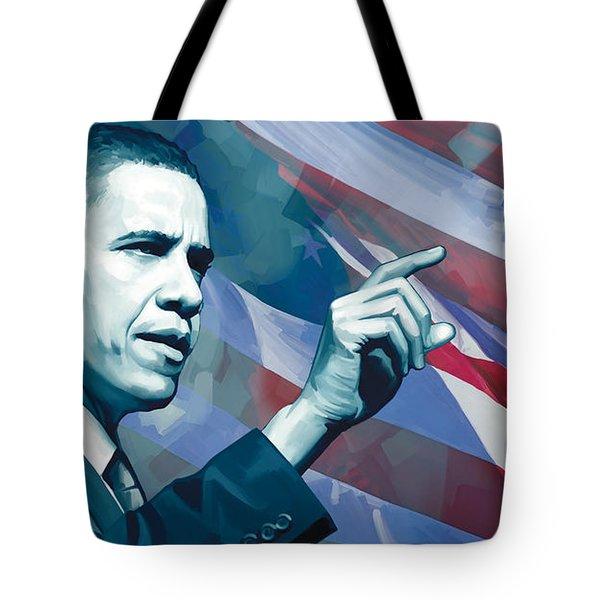 Barack Obama Artwork 2 Tote Bag by Sheraz A