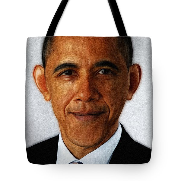 Barack Obama Tote Bag by Digital Reproductions
