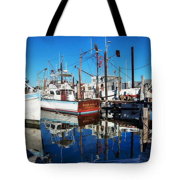 Barb Gail Harbor Corner Tote Bag by Michael Thomas