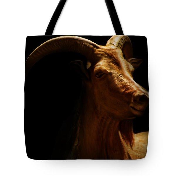 Barbary Sheep Portrait Tote Bag by Lourry Legarde