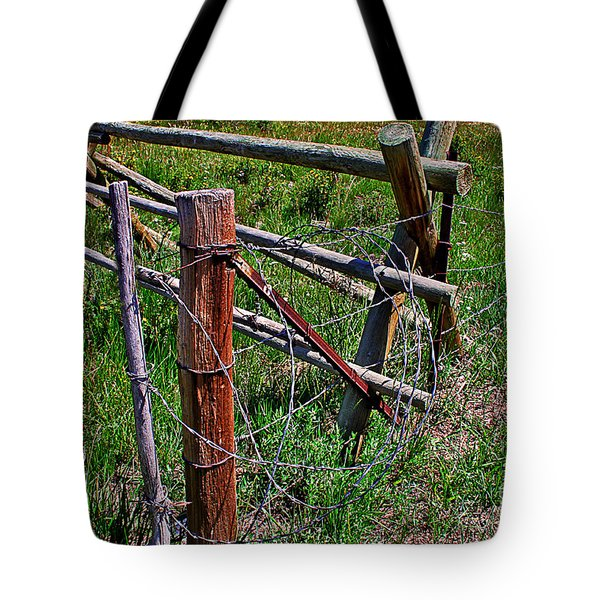 Barbed Wire Tote Bag by Janice Rae Pariza