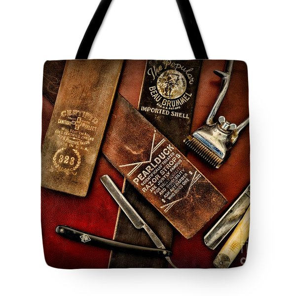 Barber - Barber Tools of the Trade Tote Bag by Paul Ward