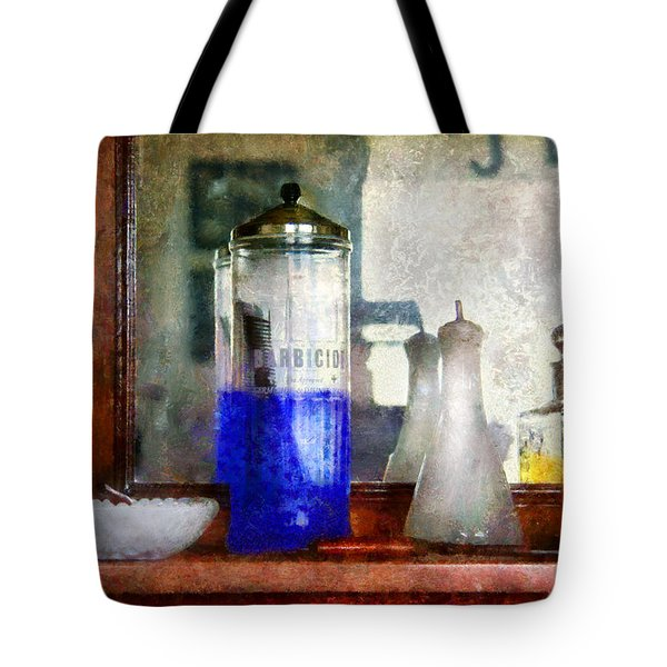 Barber - Blueberry flavored thanks for asking Tote Bag by Mike Savad
