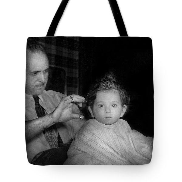 Barber - First Haircut Tote Bag by Mike Savad