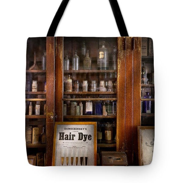Barber - Hair Dye Tote Bag by Mike Savad