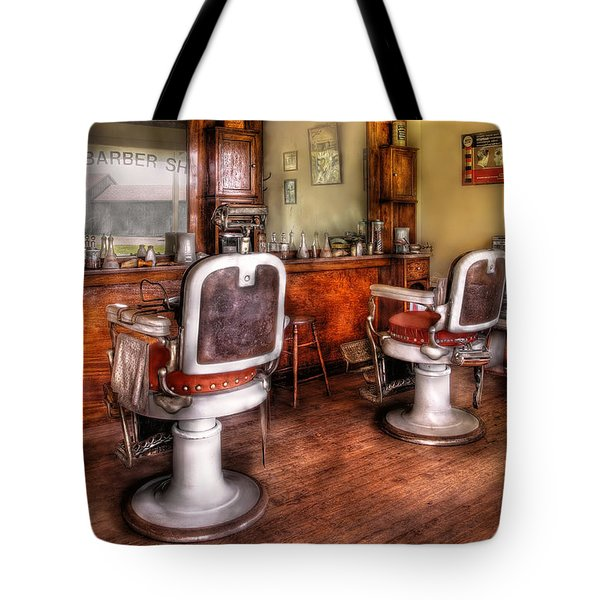 Barber - The Barber Shop II Tote Bag by Mike Savad