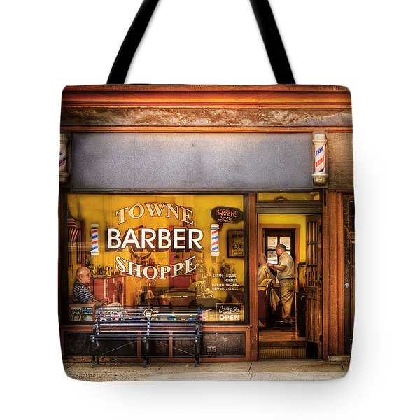 Barber - Towne Barber Shop Tote Bag by Mike Savad