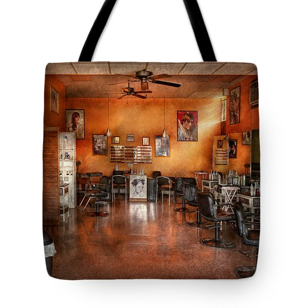 Barber - Union NJ - The modern salon  Tote Bag by Mike Savad