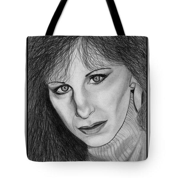 Barbra Streisand In 1983 Tote Bag by J McCombie