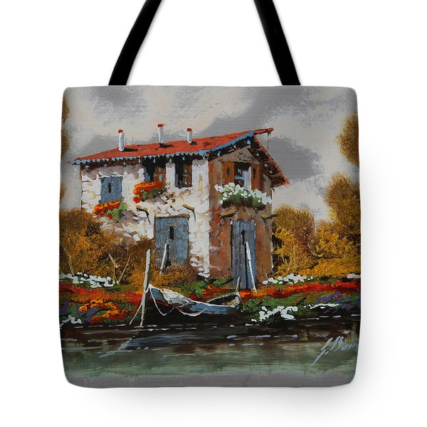 Barca Al Molo Tote Bag by Guido Borelli
